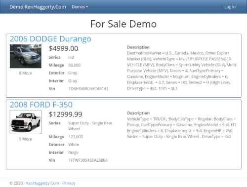 For Sale Demo